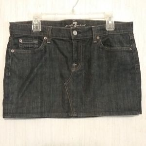 7 for All Mankind Roxy Denim Jean Mini Skirt 32